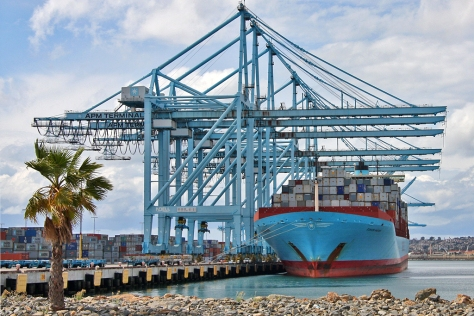 Maersk Line at the Port of Los Angeles
