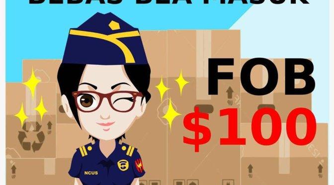 Nikmati Impor Barang Dibawah USD100 Bebas Bea