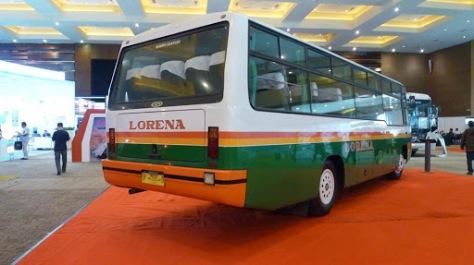 Bus Lorena Tampak Belakang