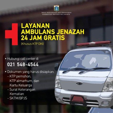 Ambulans Jenazah Gratis Pemprov Jakarta