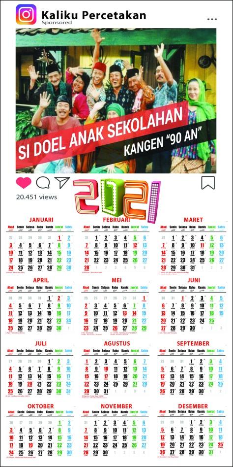 Cetak Kalender 2021 Murah