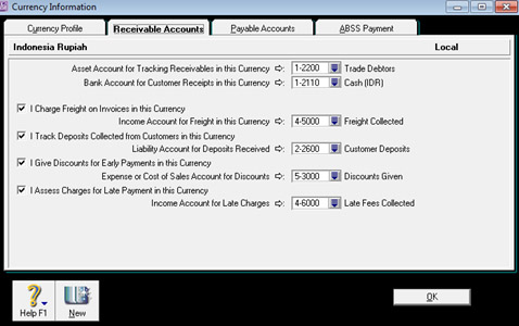 Setting Link Accounts Multi Currencies