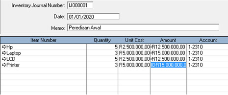 Setup Inventory (Persediaan Awal) ABSS Premier