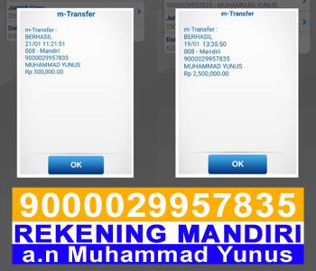 Nomor Rekening Vitas Express